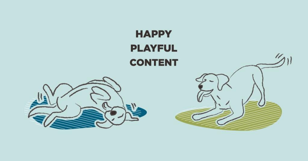 happy dog body language