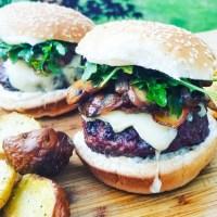 Beecher's White Cheddar Mushroom Bacon Burger