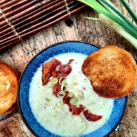 Smoky Potato Leek Soup