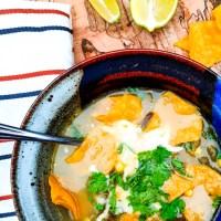 Poblano Corn Tortilla Soup