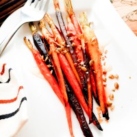 Roasted Spiced Carrots with Agave and Pepitas