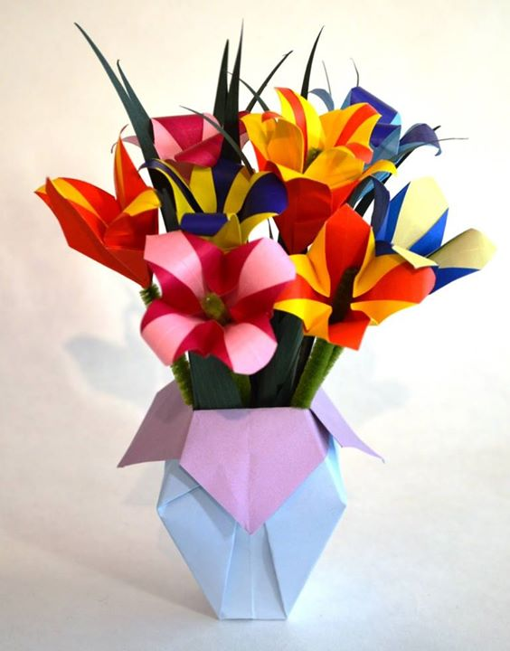 Origami Flower Bouquet Outwire757