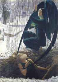 Carlos Schwabe: the Death of the Grave Digger, 1895