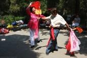Traditional dancing in Jingshan Park, Beijing