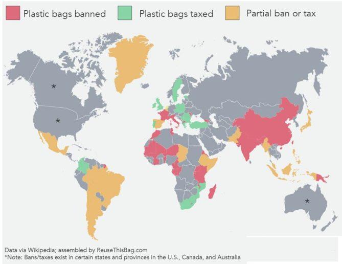 mapa pago bolsas de plástico
