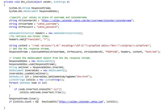 Sync Calendar Events using CALDAV in C# (1/3)
