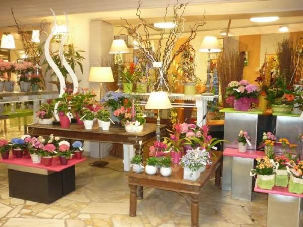 Оформление витрины цветочного магазина   OVAMO.RU