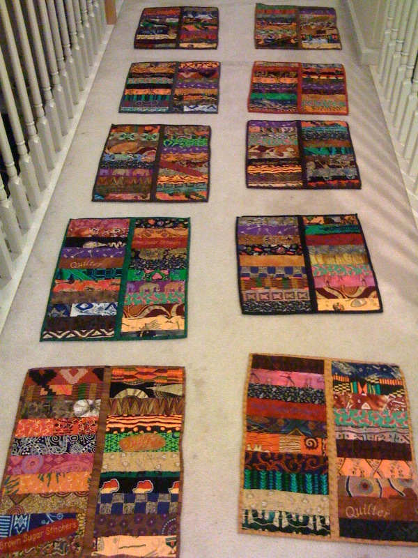 Memory quilts for Brown Sugar Stitchers