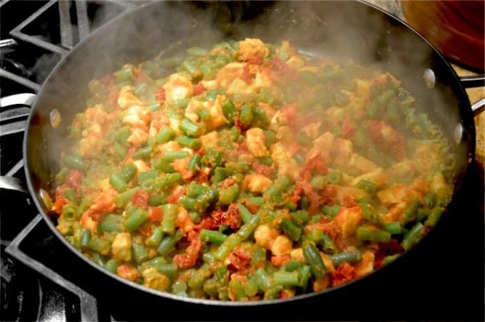 green beans, chicken, dinner, healthy