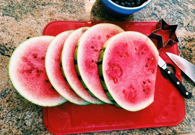 watermelon, fruit, salad