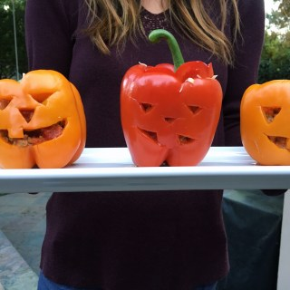 Fiesta Stuffed Bell Pepper Jack-o-Lanterns