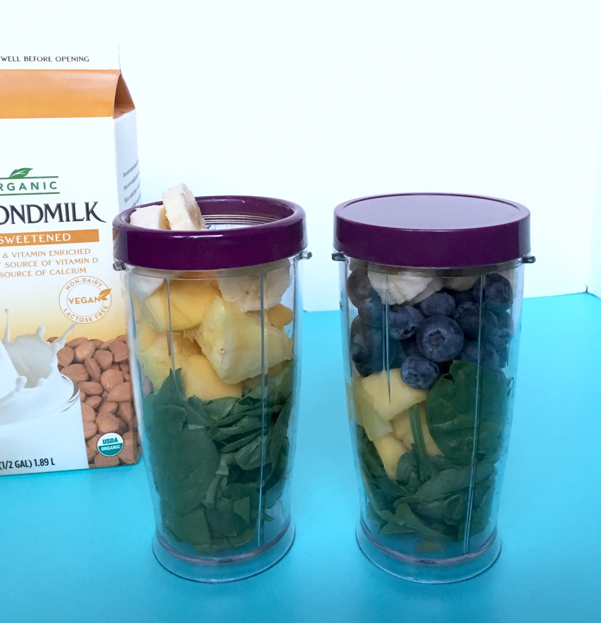 packing up a few smoothie cups ahead of time makes morning blending easy