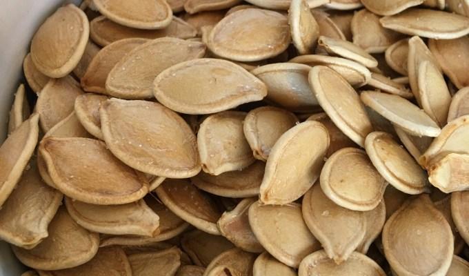 Roasting Pumpkin Seeds Plus Halloween Share