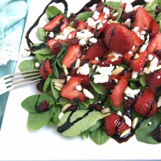 Strawberries Wild Spinach Salad