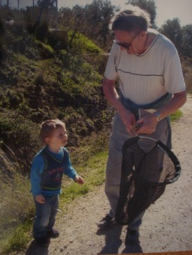 Catching butterflies with Gramps