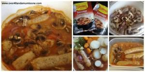 Sausage casserole, Colman's Cook Once Enjoy Twice challenge