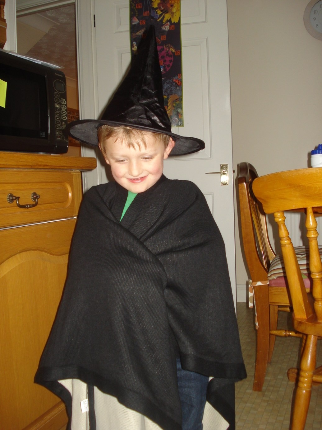 before he puts a spell on Mummy!