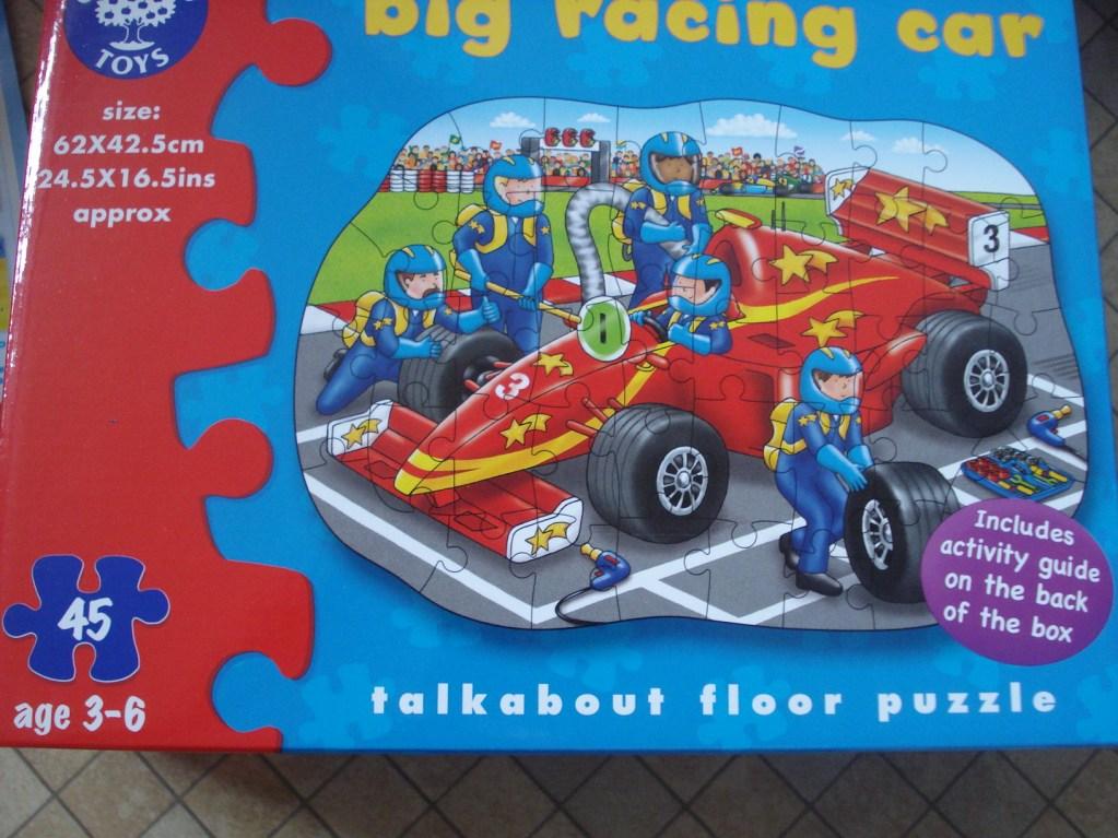 Big Racing Car talkabout Floor Puzzle