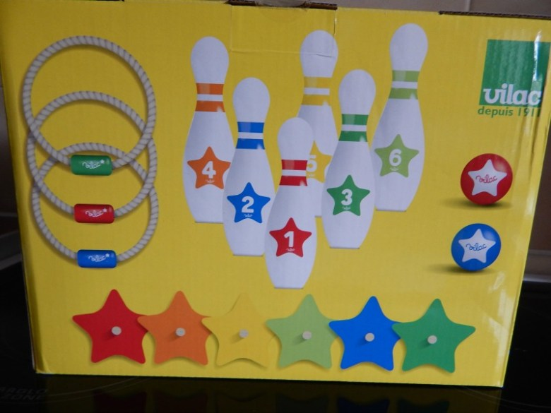 Vilac Wooden Skittle and Ring Toss Game