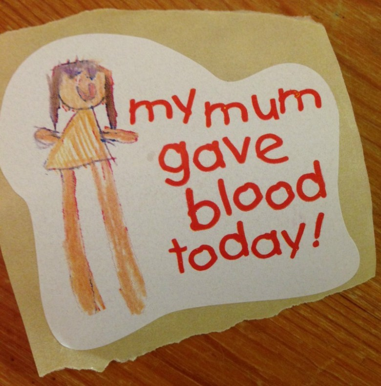 Giving blood for the first time