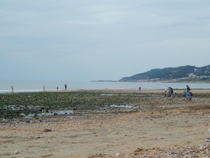 Fun on the beach at Charmouth