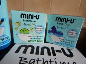 Bath time fun with Mini-U