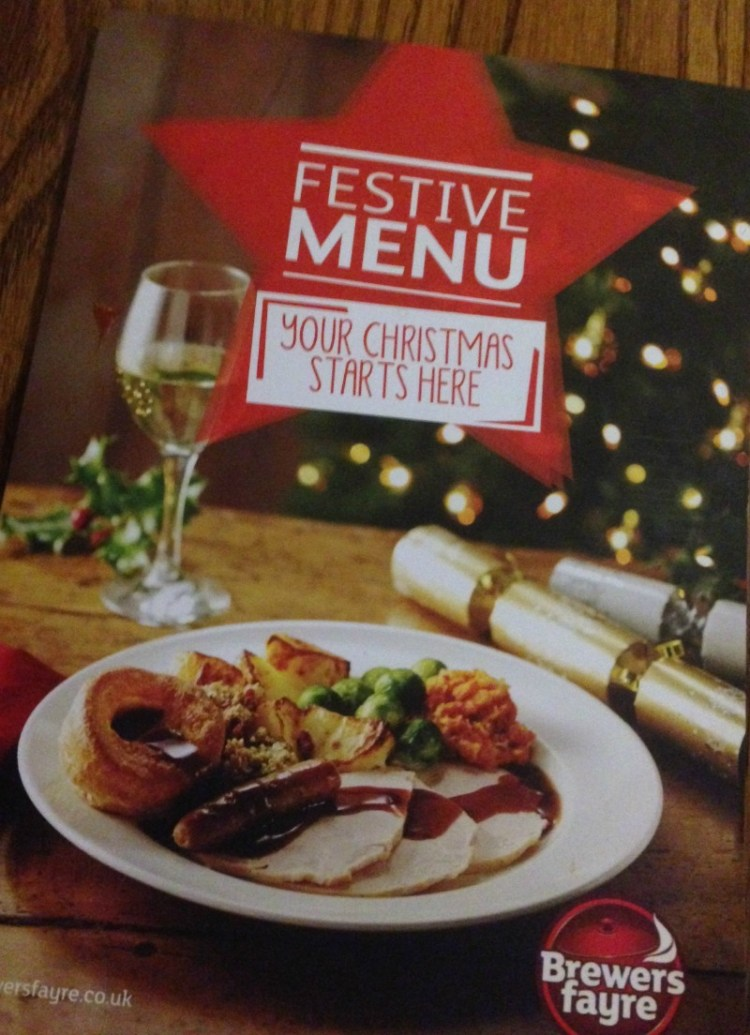 Festive Menu at Brewers Fayre