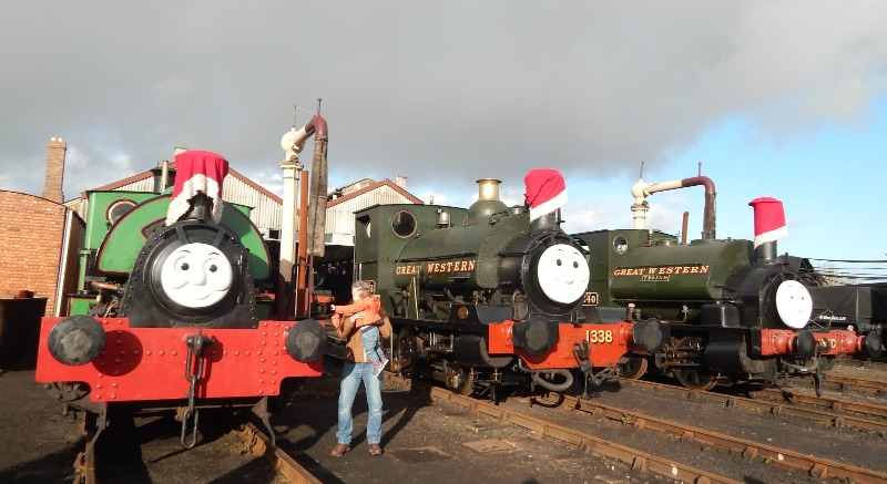 Meeting Thomas and Father Christmas