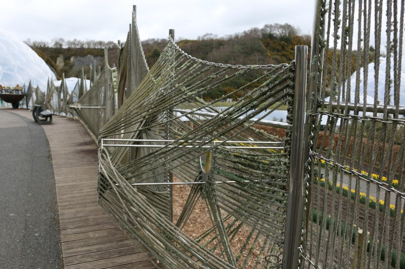 Eden Project Hemp Fence