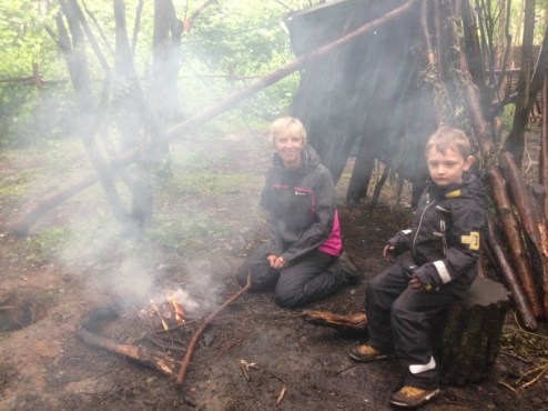 Making fire and having fun at Conkers