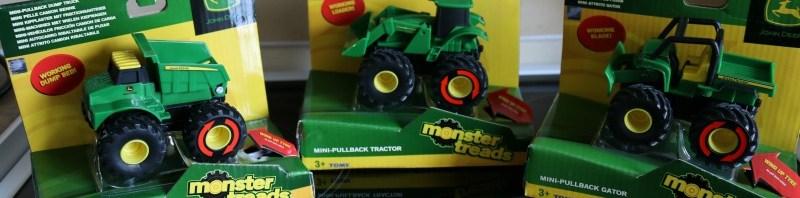 John Deere Monster Treads Mini Pullbacks