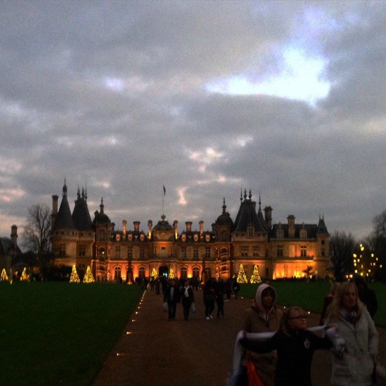 Waddesdon Manor at twilight
