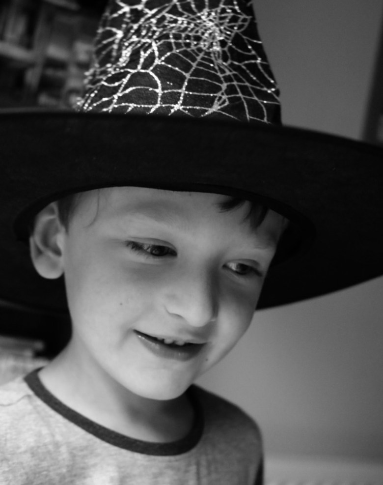 Wizard and hat in Black and White