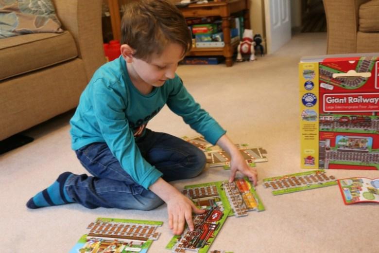 Giant Railway puzzle pieces