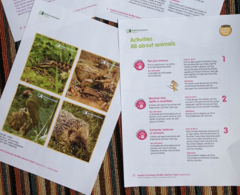 Gruffalo Teacher's Pack from the Forestry Commission