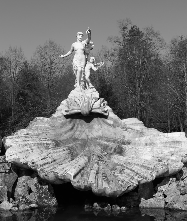 Fountain of Love in Black and White