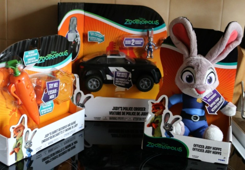 Zootropolis toys from Tomy