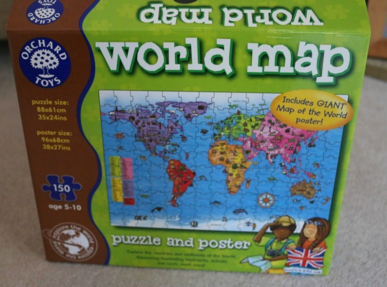 World Map Puzzle from Orchard Toys