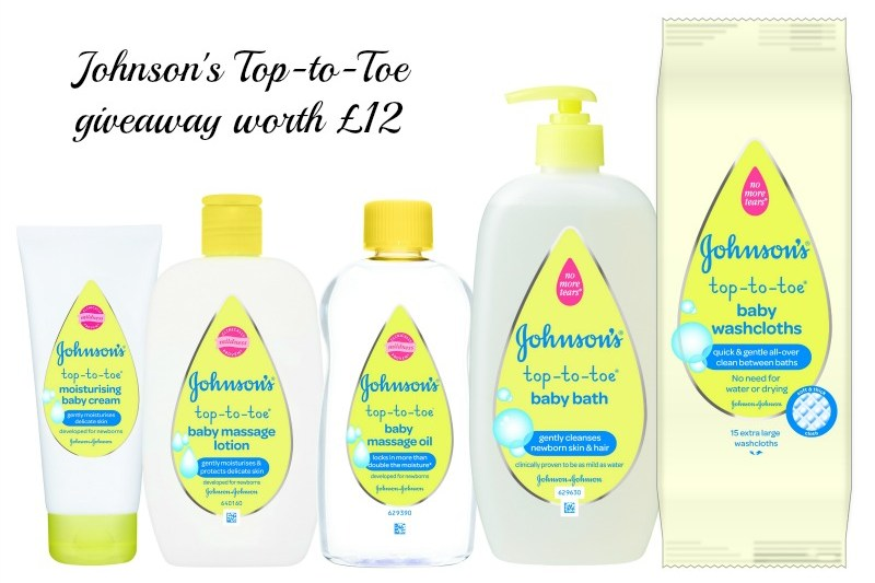 Johnson's Top-to-Toe giveaway worth £12