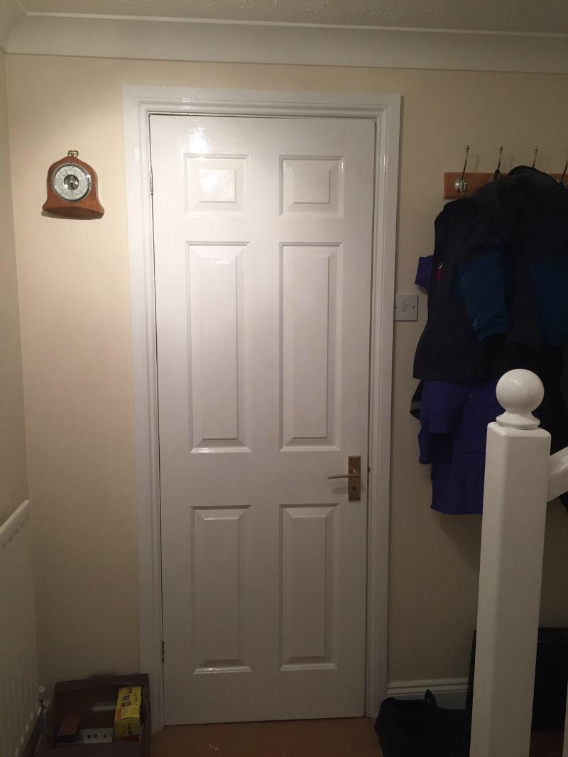 Glossing doors and painting walls & Glossing doors and painting walls - Over 40 and a Mum to One