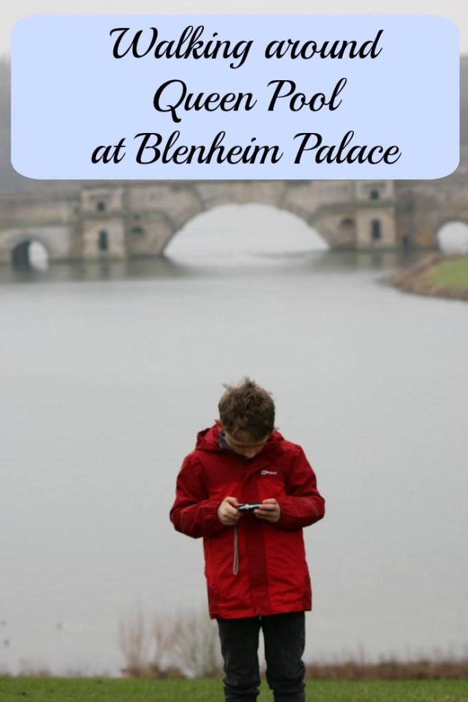 Walking around Queen Pool at Blenheim Palace