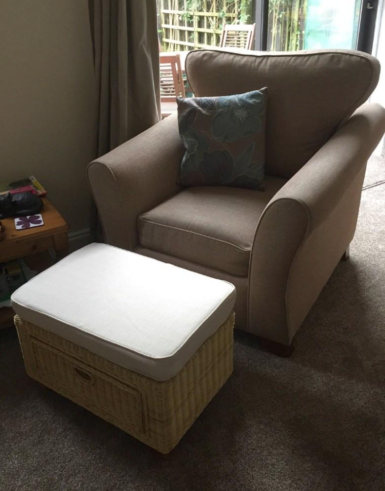 Chelsea Wicker Footstool from Rattan Direct