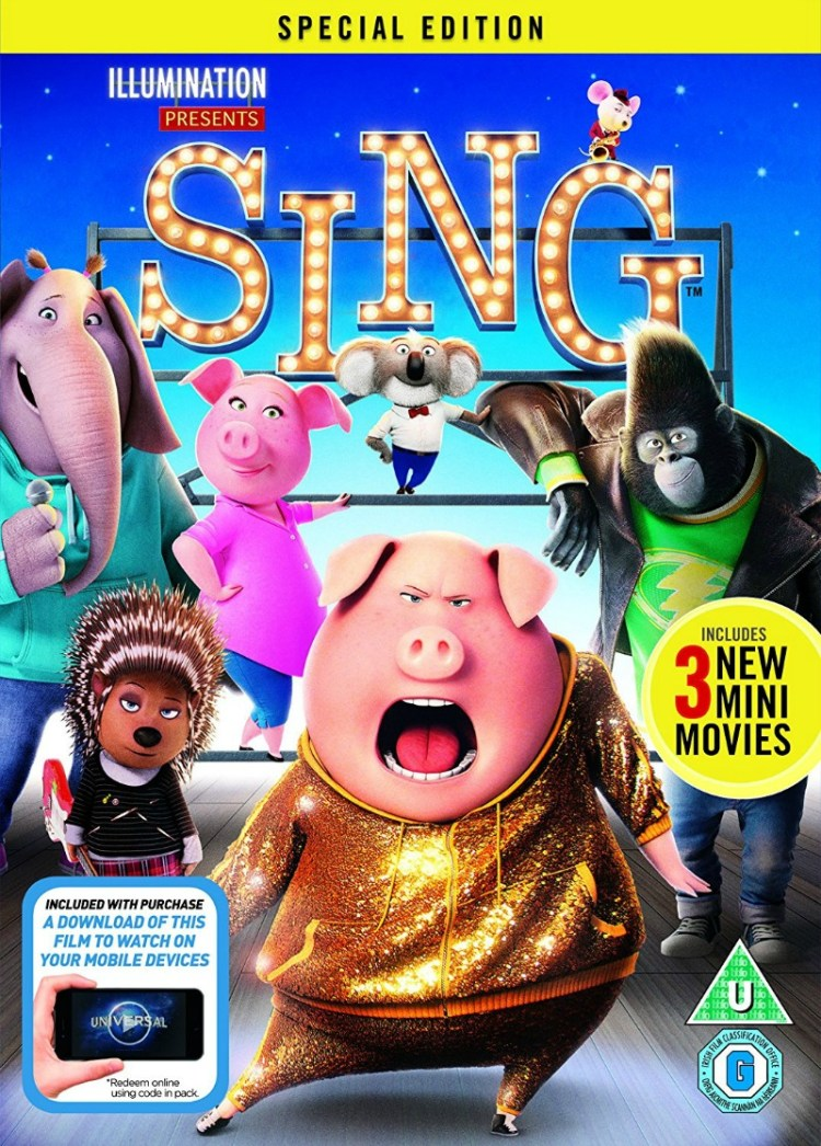 Sing - DVD review and plush giveaway
