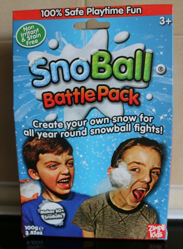 Snowball fighting in the summer