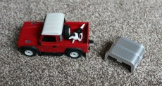 Britains Land Rover and Livestock Trailer Set