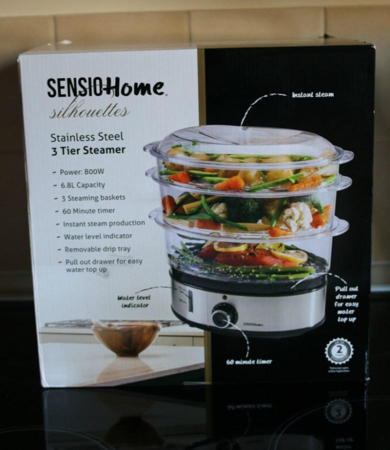 Sensio Home Stainless Steel 3 Tier Steamer