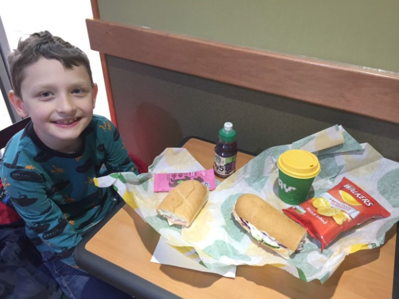 Taking the Subway Kids Eat Free Day Out challenge