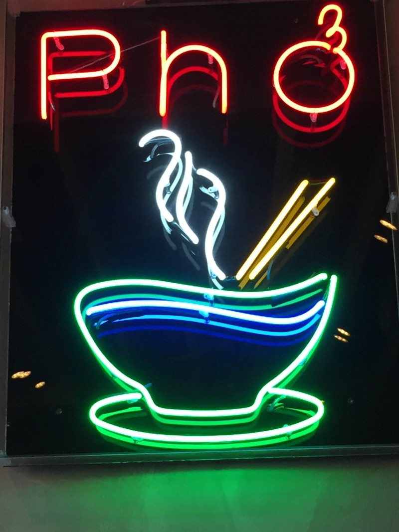 Vietnamese family dining at Pho in Oxford