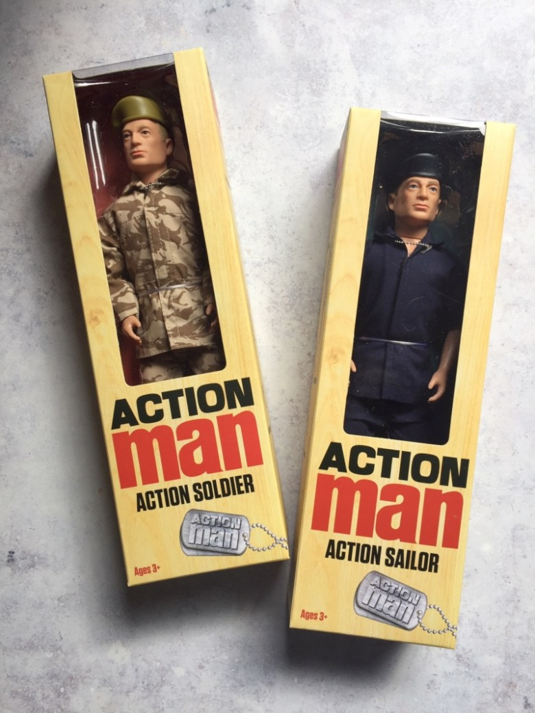 Action Man in boxes