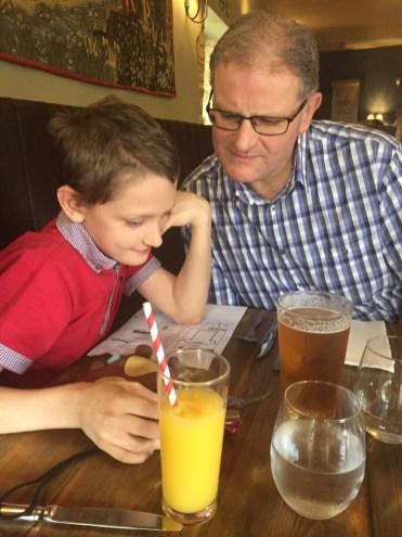 Enjoying a family meal at The Lion at Wendlebury